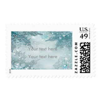 Winter Wonderland Magical Snowflakes Postage Stamp