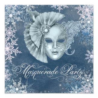 Winter Wonderland Masquerade Party Invitations