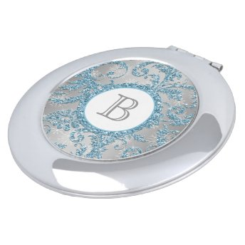 Winter Wonderland Monogrammed Compact Mirrors For Makeup