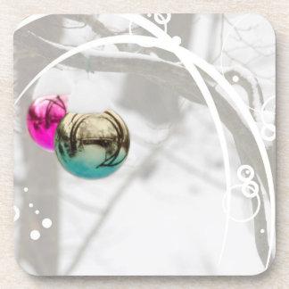Winter Wonderland Ornament Photo Drink Coaster