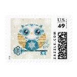 Winter Wonderland Owl Postage Stamps