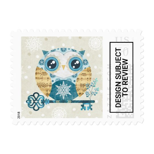 Winter Wonderland Owl Postage Stamps