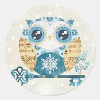 Winter Wonderland Owl Stickers