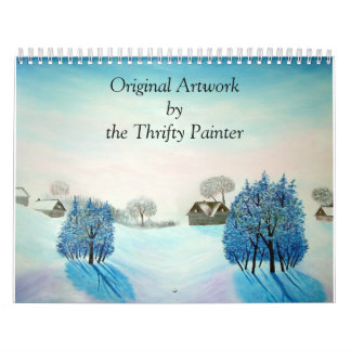 Winter Wonderland Paintings Original Landscapes Calendar