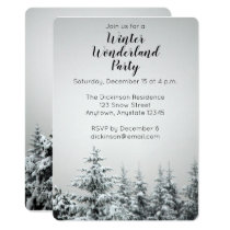 Winter Wonderland Party Invitation