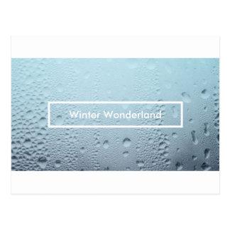 winter wonderland party window postcard