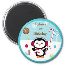 Winter Wonderland Penguin Party Favor Magnets