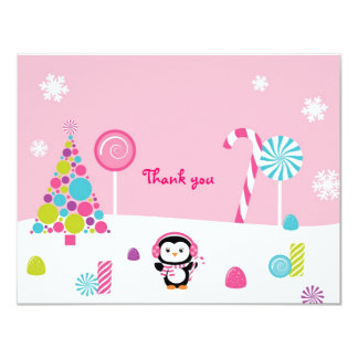 Winter Wonderland Penguin Thank You Note Cards