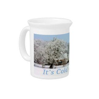 winter wonderland beverage pitcher