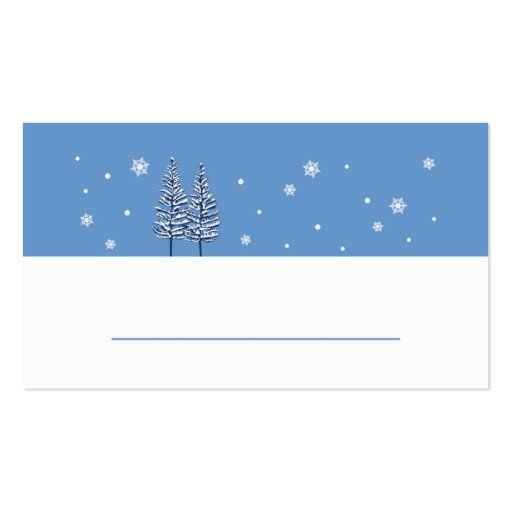 Winter wonderland place card business card zazzle
