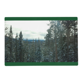 Winter wonderland placemats christmas holiday snow