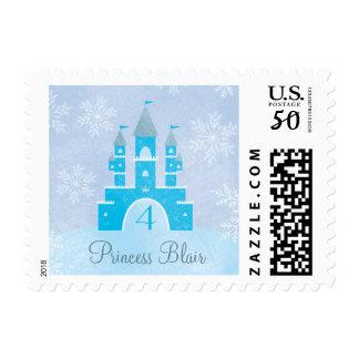 Winter Wonderland Princess Party Postage Stamps
