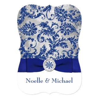 Winter Wonderland PRINTED Buckle Invite - Blue #2b