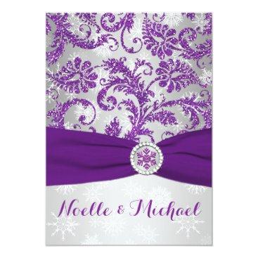 Winter Wonderland, PRINTED Crystal Buckle - Purple Invites