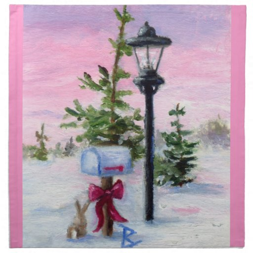 Winter Wonderland Printed Napkin