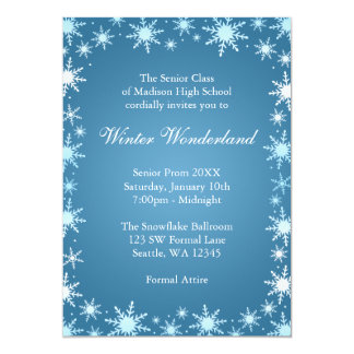Winter Wonderland Prom Invitations