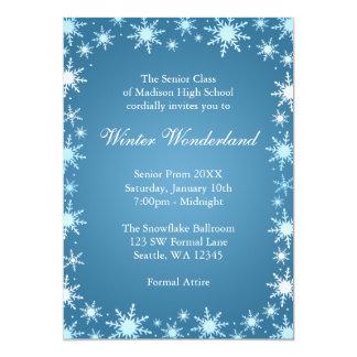 "Winter Wonderland Prom Invitations 5"" X 7"" Invitation Card"