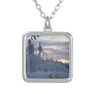 Winter Wonderland Road Personalized Necklace