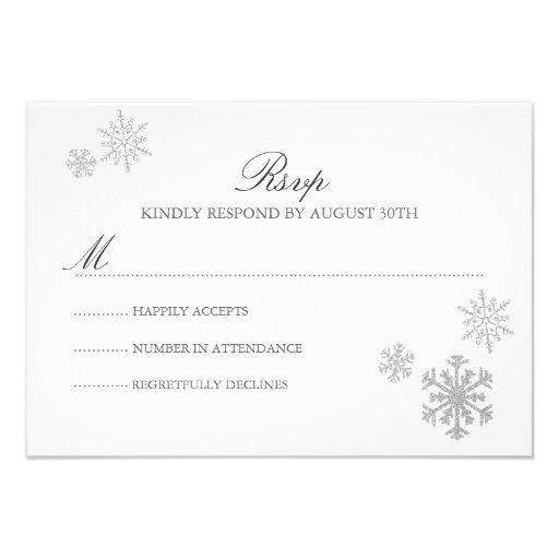 Winter Wonderland RSVP Card