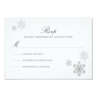Winter Wonderland RSVP Card Invites
