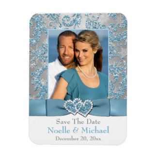 Winter Wonderland Save the Date Photo Magnet