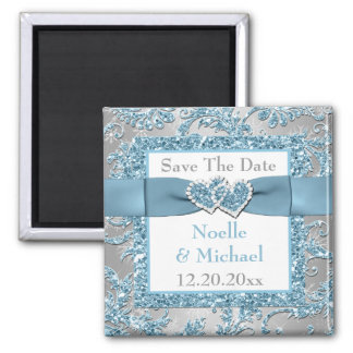 Winter Wonderland Save The Date Wedding Magnet