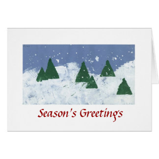 Winter Wonderland Season's greetings Card