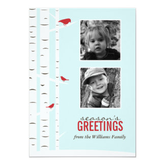 Winter Wonderland Season's Greetings Custom Announcements