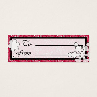 Winter Wonderland Sm Any Color Gift Tag