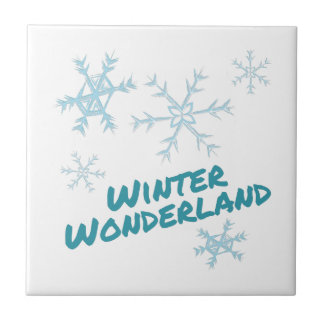 Winter Wonderland Small Square Tile