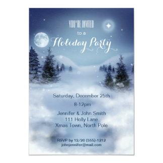 "Winter Wonderland Snow Christmas Holiday Party 5"" X 7"" Invitation Card"