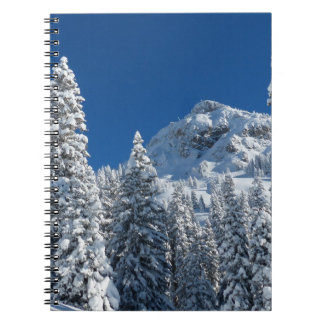 Winter Wonderland Snow Covered Trees Mountains Notebook