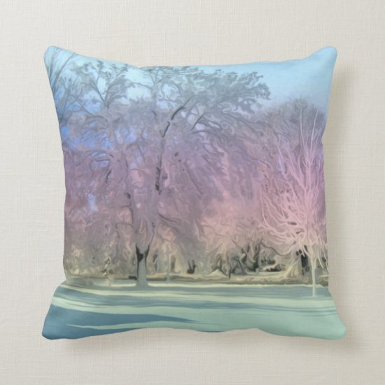 [Winter Wonderland] Snow Ice Trees Accent Throw Pillow