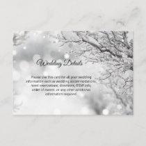 Winter Wonderland Snow Wedding Details Inserts