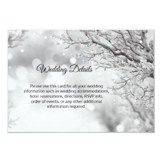 Winter Wonderland Snow Wedding Details Inserts Invitation