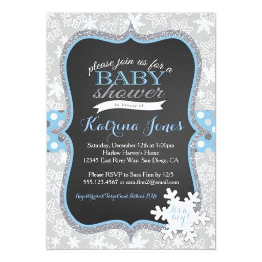 winter wonderland snowflake baby shower invitation zazzle