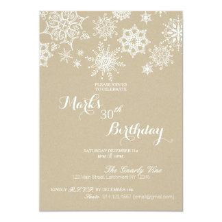 Winter Wonderland Snowflake Birthday Invite