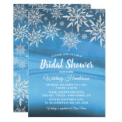 Winter Wonderland Snowflake Bridal Shower Invitation