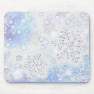 Winter Wonderland Snowflake Mouse Pad