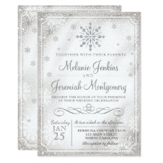 Winter Wonderland Snowflake Wedding Invitations at Zazzle