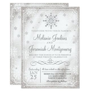 winter wonderland snowflake wedding invitations - Zazzle Wedding Invitations