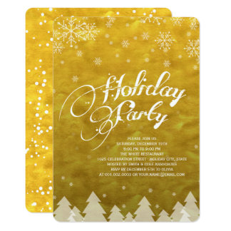 Winter Wonderland Snowflakes Holiday Party Invite