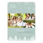 Winter Wonderland Snowflakes Holiday Photo Card