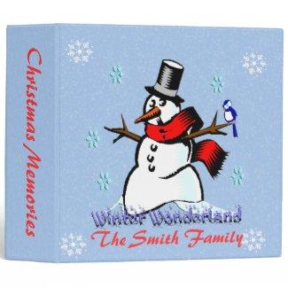 Winter Wonderland Snowman Binder