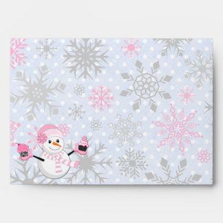 Winter Wonderland Snowman Cupcakes Snowflakes Envelope