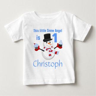 Winter Wonderland Snowman First Birthday Baby T-Shirt