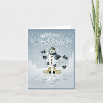 Winter Wonderland Snowman Holiday Card
