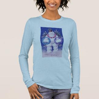 Winter Wonderland Snowman Long Sleeve T-Shirt