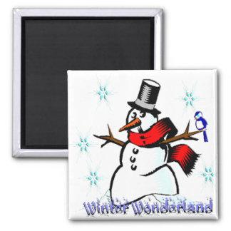 Winter Wonderland Snowman Fridge Magnet