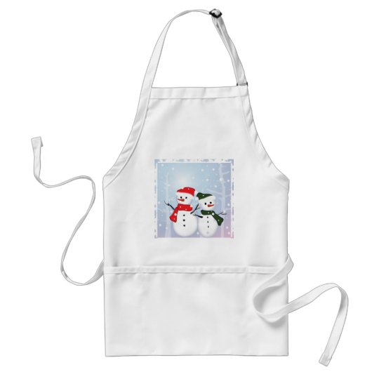 Winter Wonderland Snowman Our First Christmas Adult Apron